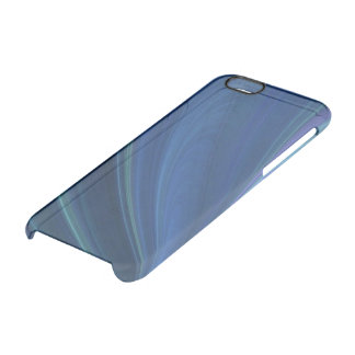 Blue And Green Soft Sand Waves Clear iPhone 6/6S Case
