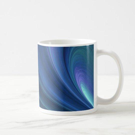 Blue And Green Soft Sand Waves Coffee Mug