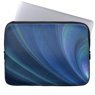 Blue And Green Soft Sand Waves Computer Sleeves