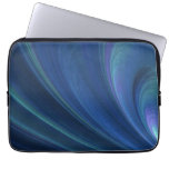 Blue And Green Soft Sand Waves Laptop Sleeves