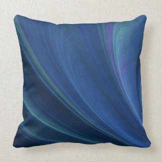 Blue And Green Soft Sand Waves Throw Pillows
