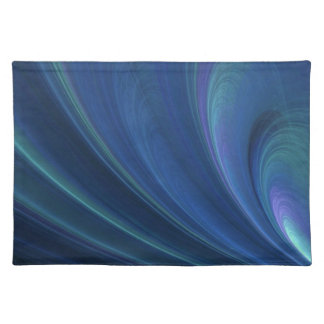 Blue And Green Soft Sand Waves Placemat