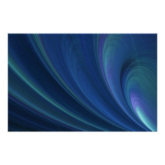Blue And Green Soft Sand Waves Poster
