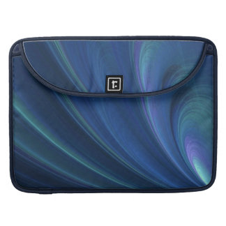 Blue And Green Soft Sand Waves Sleeve For MacBooks