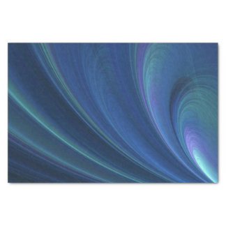 Blue And Green Soft Sand Waves Tissue Paper