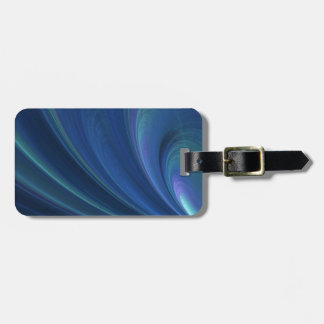 Blue And Green Soft Sand Waves Travel Bag Tags