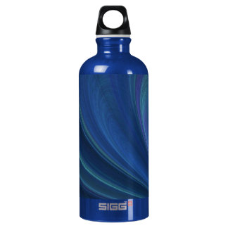 Blue And Green Soft Sand Waves Water Bottle