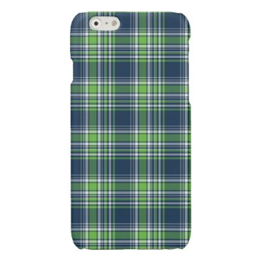 Beach Themed Blue and Green Sporty Plaid iPhone 6 Case