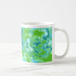 Blue and Green Squiggles Design Coffee Mug