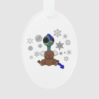 Blue and Green Squite (Pocket Griffon) Snowflakes Ornament