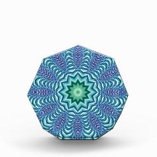Blue And Green Star Flower Acrylic Award
