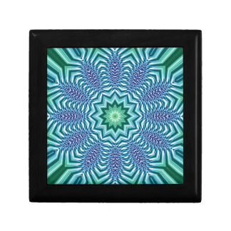 Blue And Green Star Flower Keepsake Box