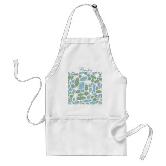 Blue and Green Stones Adult Apron