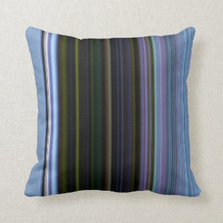 Blue and Green Stripe American Mojo Pillow