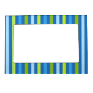 Blue and green stripe magnetic frame