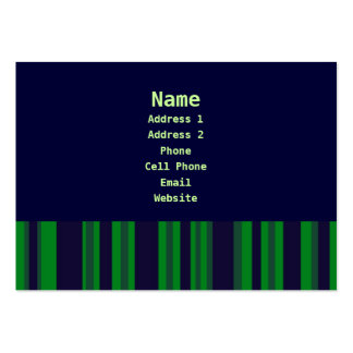blue and green stripes business card