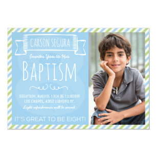 Lds Baptism Invitations Announcements Zazzle