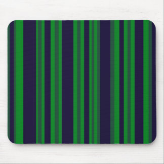 blue and green stripes mouse pad