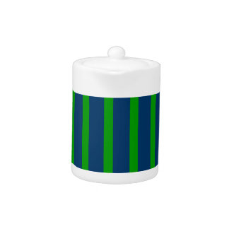 Blue and Green Stripes Teapot