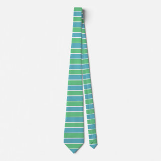 Blue and Green Stripes Tie