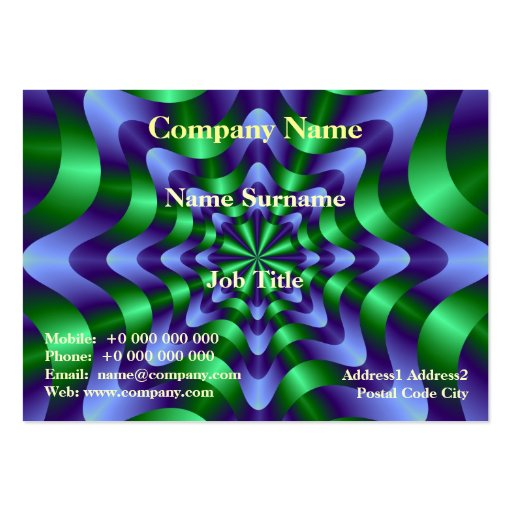 Blue and Green Swirl Card Business Card Templates