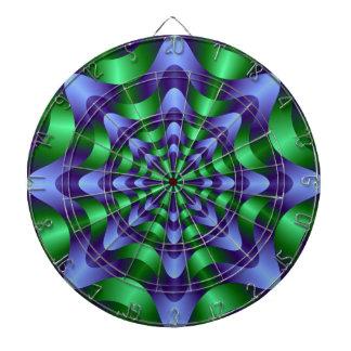 Blue and Green Swirl Dartboard