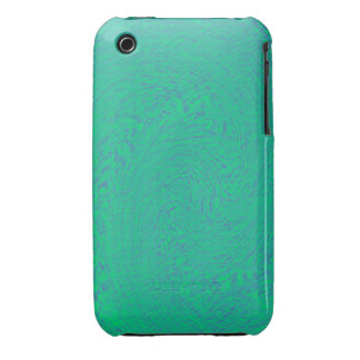 Blue and Green Swirl Design iPhone 3 Cover
