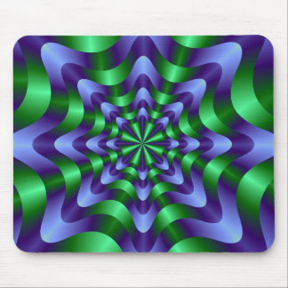 Blue and Green Swirl Mousepad
