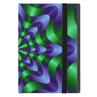 Blue and Green Swirl Pink Web iPad Mini Case