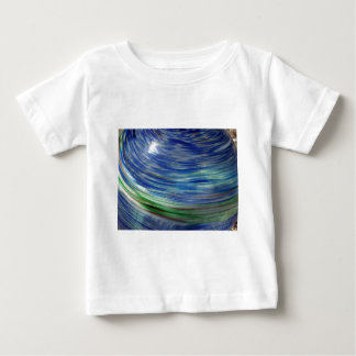 Blue and Green Swirls in the Round Baby T-Shirt