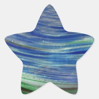 Blue and Green Swirls in the Round Sticker