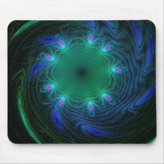 Blue And Green Swirls Mouse Pad