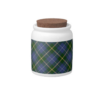 Blue and Green Tartan Plaid Candy Jar