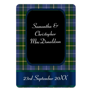 Blue and green tartan plaid favor thank you tag business card templates