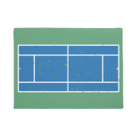 Blue and Green Tennis Court Distressed Style Doormat