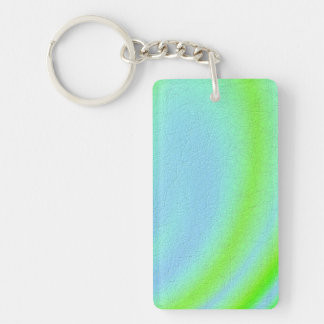 Blue and green texture art Double-Sided rectangular acrylic keychain