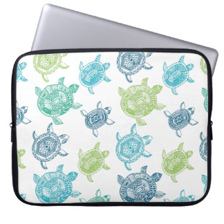 Blue and Green Turtles Computer Sleeve