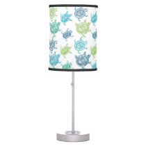 Blue and Green Turtles Desk Lamp