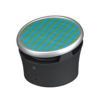 Blue and Green Vertical Stripes Speaker