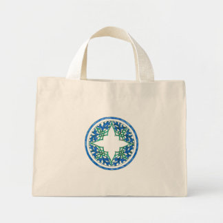 blue and Green victorian Round Graphic Bag