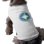blue and Green victorian Round Graphic Doggie Tee Shirt