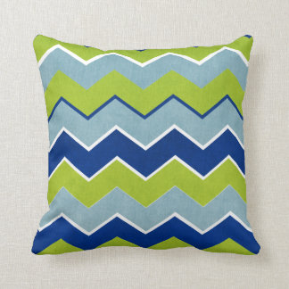 Blue and Green Zig Zag Pattern Pillows