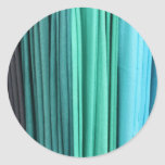 Blue and Greens Classic Round Sticker