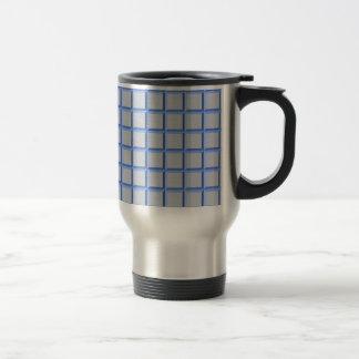 Blue and Grey Bevel 15 Oz Stainless Steel Travel Mug