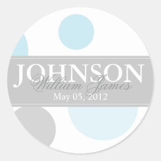 Blue and Grey Big Dots Sticker