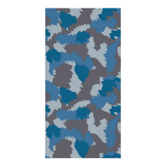 Blue and Grey Camouflage Card