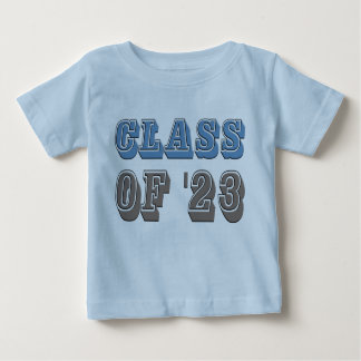 Blue and Grey Class of 2023 Baby T-Shirt