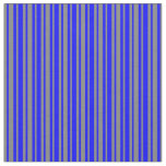 [ Thumbnail: Blue and Grey Colored Striped/Lined Pattern Fabric ]