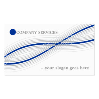 Blue and grey crossed curved lines and circle business cards