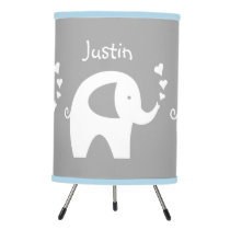 Blue and grey elephant lamp for nursery baby room